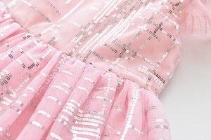 Image 5 - LOVE MM DD & vestidos para niñas, novedad de verano, ropa para niños, vestido de princesa sencillo con degradado de malla de lentejuelas sin mangas, 2020