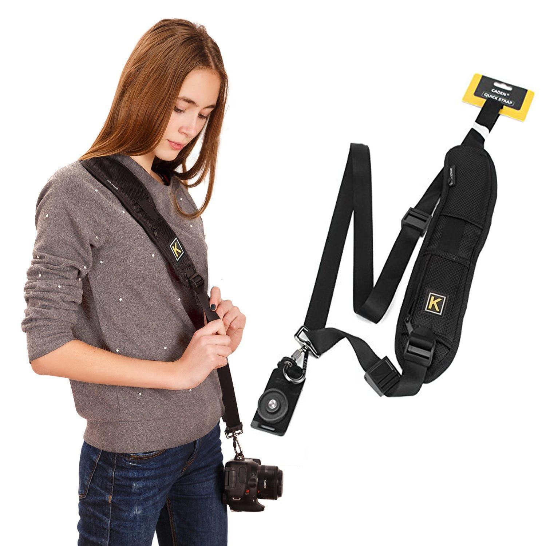 Black Single Shoulder Sling Belt Strap for Canon EOS Rebel T4i
