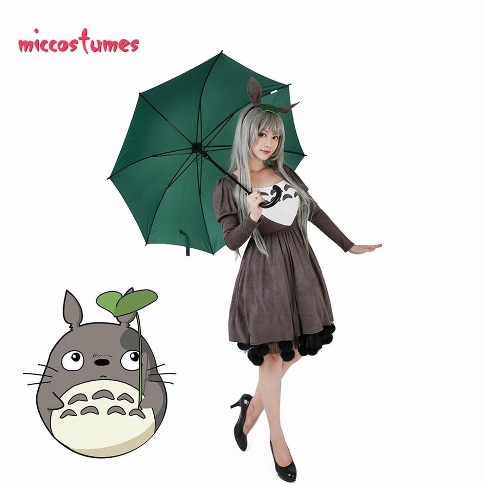 Ghibli My Neighbor Totoro Friends Costume Dress Including Headdress And Tail