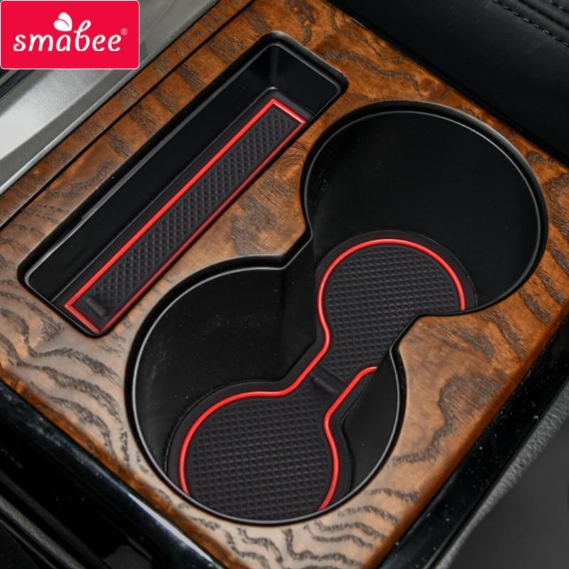 Smabee Anti-Slip Gate Slot Cup Mat For Mitsubishi Pajero MK2 Interior Accessories Rubber Non-slip Mat Cup Holders 15pcs Coaster