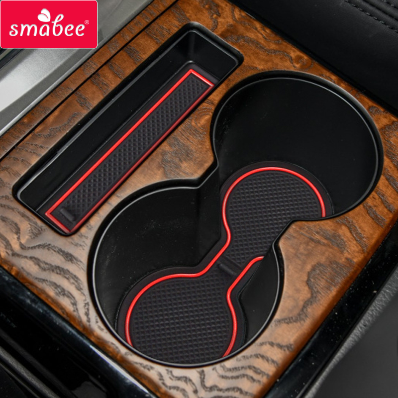 Smabee Anti-Slip Gate Slot Mat For Mitsubishi Pajero 2019 2020 MK2 Interior Accessories Rubber Non-slip Mats Coaster Cup Holders