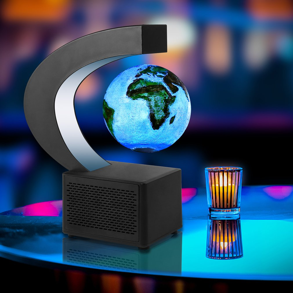 Light Suspended Speaker Painted Magnetic Suspension Moonlight Used For Home Office Decoration Creative Gifts
