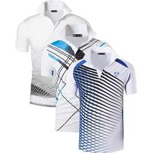Jeansian 3 paket erkek spor Tee Polo gömlekler Polo Poloshirts Golf tenis Badminton kuru Fit kısa kollu LSL195 PackG