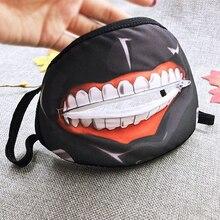 Tokyo Ghoul Carton Face Mask Kim Mu Yan Cosplay Zip Mouth Cover Anime Mouth Mask Fashion Personality Respirator