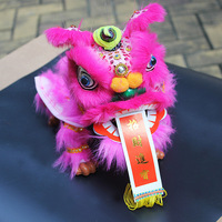 China Features Folk Lion Dance Traditional Crafts Medium Puppet Lion Decoration Send Foreigner New Year Gift