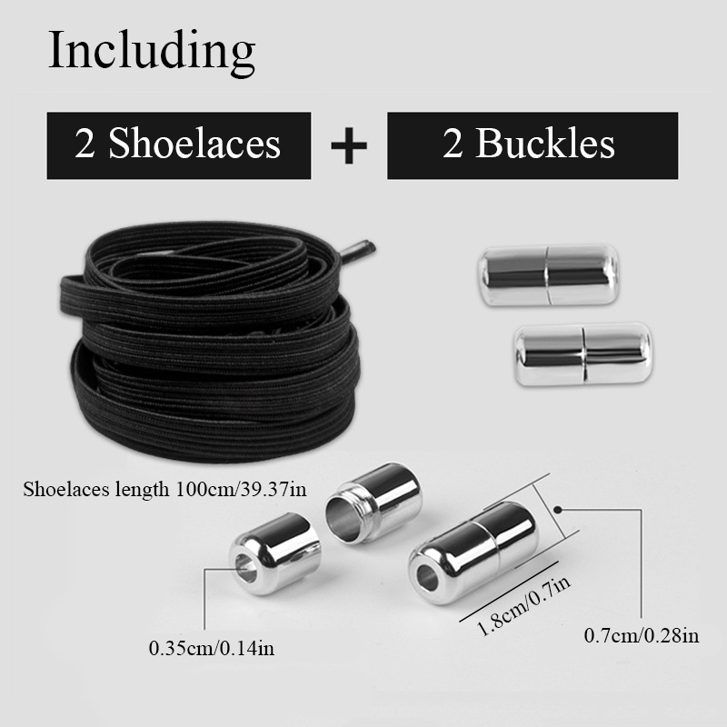 1Pair 100CM No Tie Elastic Shoelaces Stretchy Rubber Shoe Lace Adult Kids Quick And Easy Sneakers Elastic Shoelace