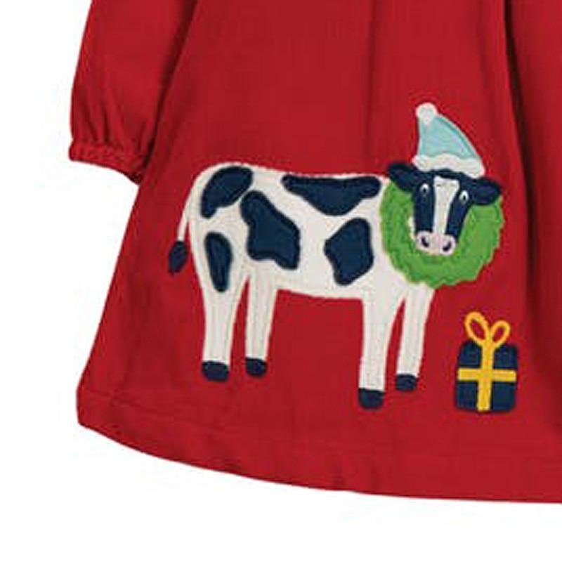 Little maven Girls Dress with Single-breasted 2021 Christmas Dress for Baby Girls Corduroy Cow Girls Wedding Dress Kids Dress 2