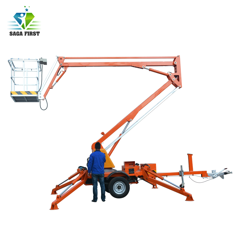CE ISO Certificated Diesel Towable Boom Lift With Good Quality