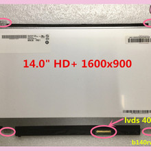 free ship laptop lcd screen 1600*900 40pin HD+ B140RW02 V.1 N140FGE-LA2 L32 LP140WD2