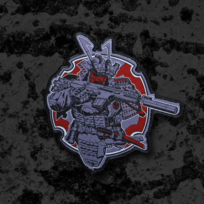 TACTICAL ARMOR SAMURAI Embroidery Patches Morale Tactical Chapter Clothes Backpack Striped With Hook And Loop Badge DIY Patch(China)
