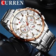 CURREN Man WristWatch Waterproof Chronograph Men Watch Military Top Brand Luxury Business Stainless Steel Sport Male Clock 8363