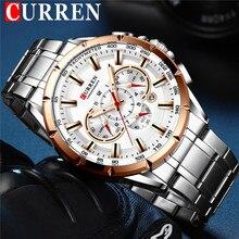 CURREN Mann Armbanduhr Wasserdicht Chronograph Männer Uhr Military Top Marke Luxury Business Edelstahl Sport Männlichen Uhr 8363