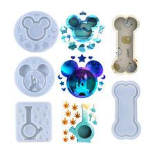 Castle Mouse Shaker Mold żywica epoksydowa brelok na klucze Making Diy butelka Maple Leaf Shaker wypełnienie rzeczy silikonowe formy tanie tanio INXIONGIN CN (pochodzenie)
