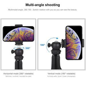 Image 5 - Puluz mini polvo flexível tripé titular & bola cabeça & telefone braçadeira + tripé adaptador de montagem & parafuso longo para câmeras slr/gopro/celular