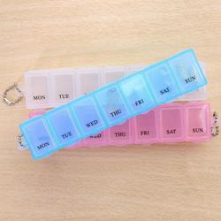 7-dniowy tygodniowy futerał na pigułki 7 siatek medycyna Tablet dozownik codzienny Organizer pudełka na tabletki zestaw pojemnik przechowywanie w domu