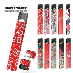 Magic Shark Hot Sale Cartoon Case For Juul Wraps For Juul Paper Cover Sticker Electronic Cigarette Skin Film(China)