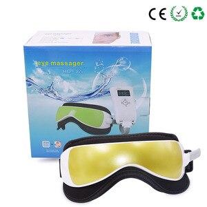 Image 5 - Elétrica dc vibração olho massageador máquina música magnética pressão de ar infravermelho aquecimento massagem óculos dispositivo cuidados com os olhos