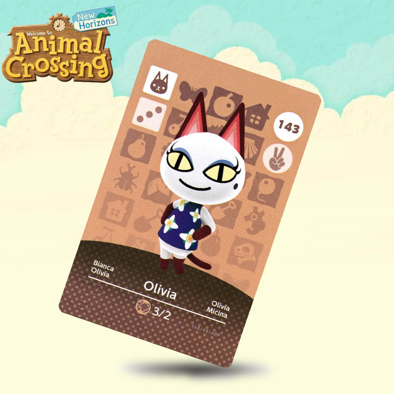 143 Olivia Animal Crossing Card Amiibo Cards Work For Switch NS 3DS Games