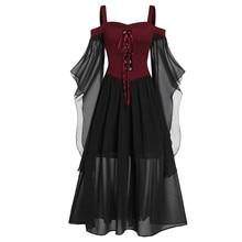 Womne/Большие размеры, платье на Хэллоуин с открытыми плечами и рукавами-бабочками, черный костюм для косплея дьявол, Сексуальные вечерние платья для взрослых