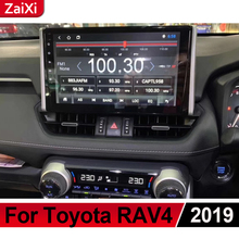все цены на ZaiXi For Toyota RAV4 2018 2019 Android Car Multimedia GPS Audio Radio Stereo Original Style Navigation NAVI BT WIFI HD Screen онлайн
