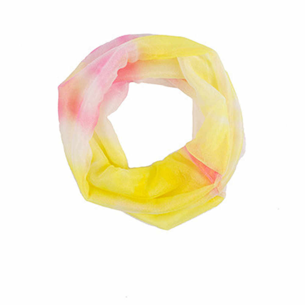 Sleeper # P501 moda mujer al aire libre colorido protector solar gasa gradiente capucha cuello bufanda chal anillo color caramelo caliente envío gratis