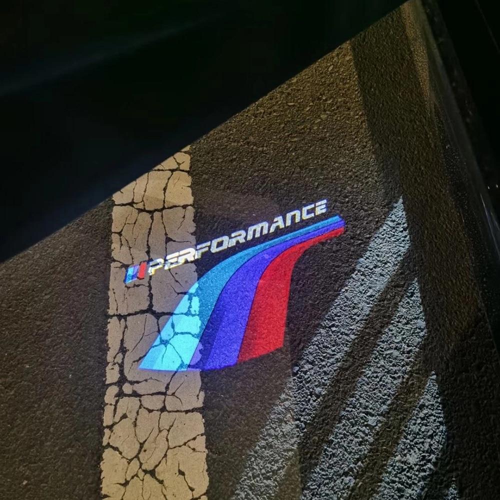 2X LED /// Performance Projector Logo Car Door Welcome Light For BMW E90 E60 E46 E36 E34 F30 F36 F10 F20 F25 X3 X4 X5 M2 M3 M5