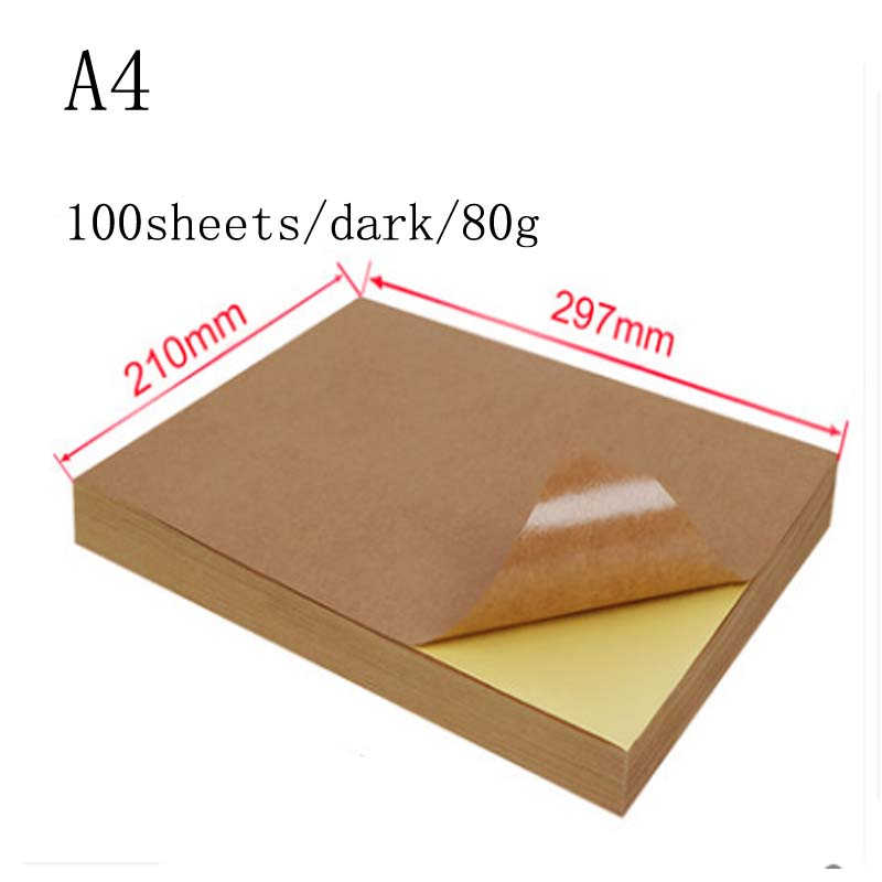 A4 A3  White Self Adhesive Sticker Label Matte Glossy Surface Paper Sheet For Laser Inkjet Printer Copier Craft Paper