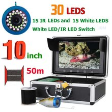 Visual Fish Finder Underwater Fishing Camera 10 Inch High Definition Display Monitor 90 Degrees View Angle LCD Screen