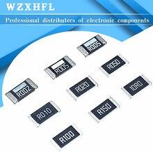 50PCS/LOT 2512 SMD Chip Resistor 5% 0R-1M R001 R010 R100 R020 1R 10R 100R 1K 10K 100K 1M ohm