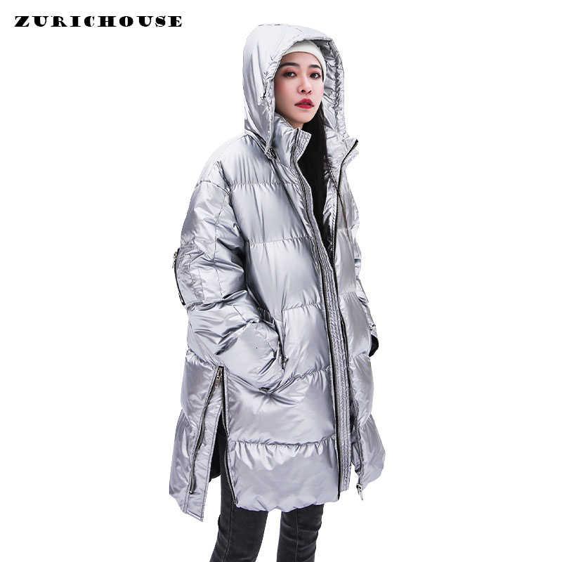 ZURICHOUSE 2019 doudoune femme hiver brillant argent mode