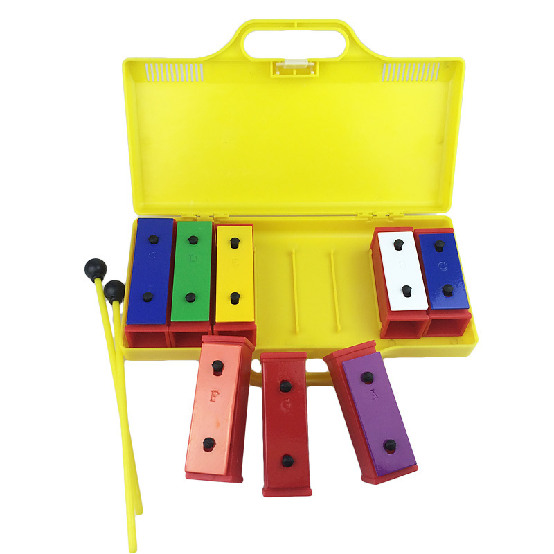 Orff With Box Octave Brick CHILDREN'S Percussion Instrument 8 Sound Brick Music Toy 8 Block Music CHILDREN'S Percussion Instrume