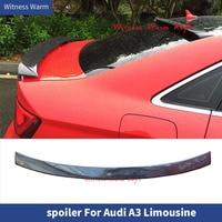 For Audi A3 Car Rear roof Spoiler sedan 2013 UP carbon fiber FRP Rear Wing Lip Spoiler