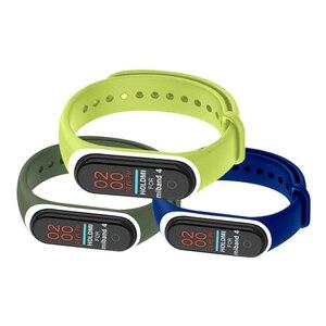 Image 5 - 22 couleurs Bracelet en Silicone Bracelet pour Xiaomi Mi bande 4 montre remplacement Bracelet en TPU Bracelet intelligent sport montre Bracelet