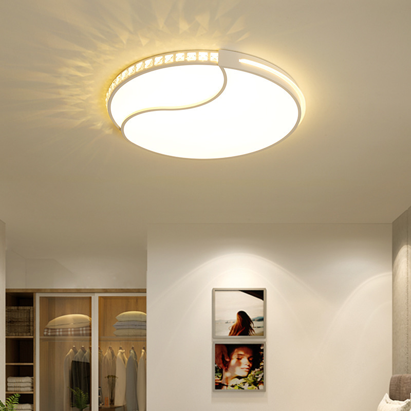 and contemporary bedroom lamp led crystal light their circular temperature Nordic, lamps and lanterns of romance