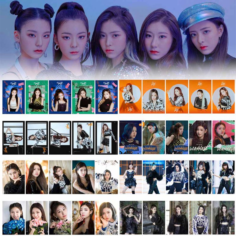 10PCS/Set KPOP ITZY IT'z ME Photocard Photo Card PVC Crystal Card Stickers For Bus Student Card Stationery Set