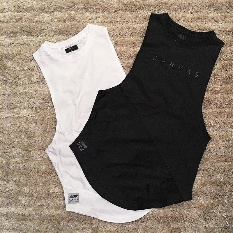 Muscle Aesthetics Sports Vest Men's Tight Fast Dry Running Training Shirt Sleeveless Elastic Joint Fitness Vest