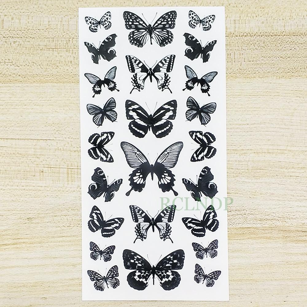Waterproof Temporary Tattoo Sticker  Butterfly Fake Tatto Flash Tatoo Leg Arm Hand Foot Tatouage For Girl Women Lady