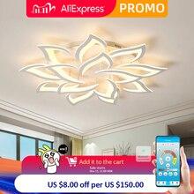 Iralan Glans Led Plafond Kroonluchter Moderne Luxe Lotus Voor Woon/Eetkamer Keuken Slaapkamer Lamp Art Deco Verlichtingsarmaturen