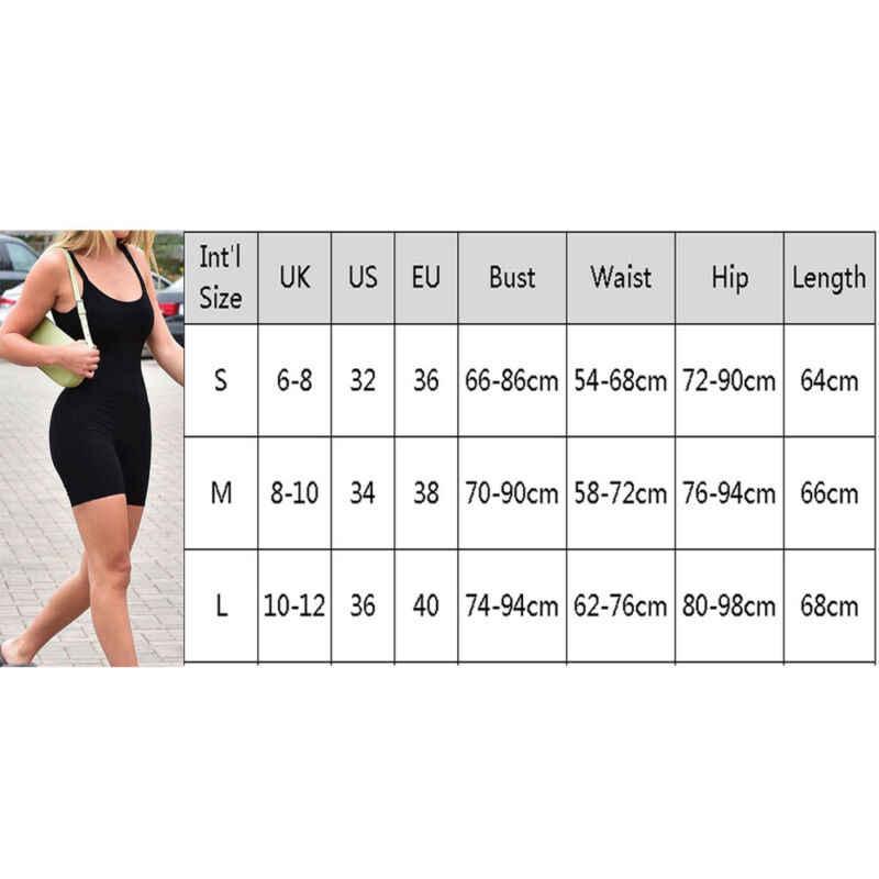 2019 nuevas mujeres Spaghetti ceñido ajustado traje de yoga femenino Casual sin mangas Playsuit conjuntos para gimnasio
