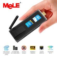 Intel Celeron J4105 Quad Core 8GB 128GB J4125 J3455 4K Fanless Mini PC Windows 10 Pro MeLE PC Stick Mini-Computer HDMI WiFi LAN