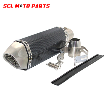 ALconstar, tubo de Escape para motocicleta de 51mm con silenciador, cacerola para Moto, Escape para Yamaha, Honda, KTM, Kawasaki Ducati, Slip-on