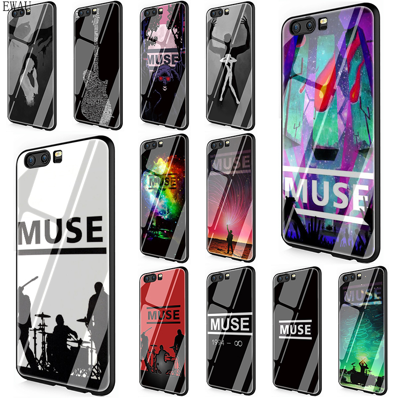 EWAU Muse Band Lyrics Music Songs Tempered Glass phone case for Huawei Y6 Prime Y9 Mate 20 Honor 7A Pro 8X 9 10 Lite image
