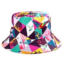 Summer Bucket Hat Women Men duck Double Sided Fisherman hat bob Outdoor Travel Sunscreen print sun hat Fashion hip hop Panama