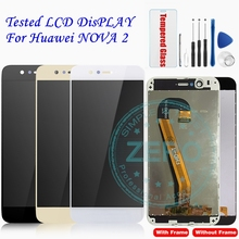Tested For Huawei Nova 2 LCD Display + Frame Touch Screen Panel For Huawei Nova2 LCD Display Assembly Replacement Repair Parts