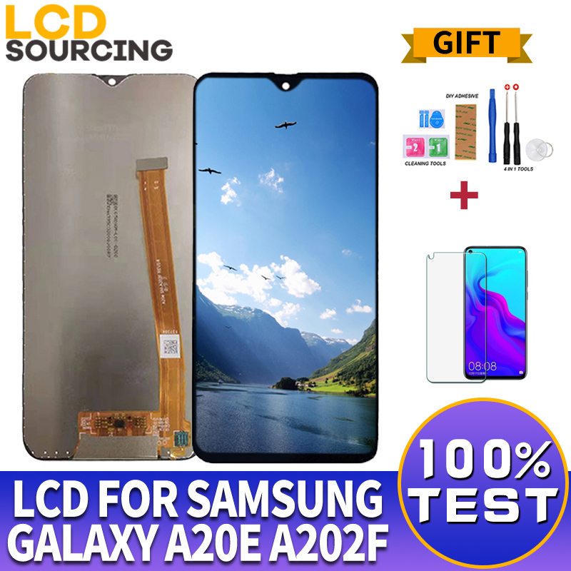 5.8 inch For <font><b>Samsung</b></font> <font><b>Galaxy</b></font> <font><b>A20E</b></font> <font><b>LCD</b></font> Display A202 A202F A202DS Touch Screen Digitizer Assembly For <font><b>Samsung</b></font> A20 e Display replace image