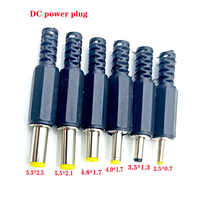 10 unids/lote de enchufe de corriente continua, 9mm de longitud, 5,5x2,1 MM, 3,5x1,3 MM, 30V, 1A, Conectores eléctricos, adaptador de terminales de cable de montaje macho