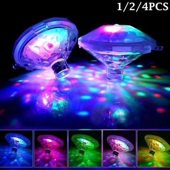 Underwater Bath Light Floating Lamp LED Flashing Pond Swimming Pool Hot Tub Spa Night Light Outdoor Garden Party Disc Decoration