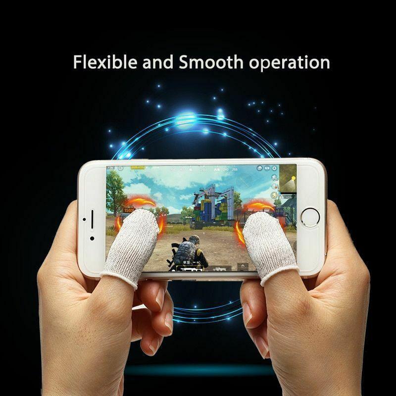 10Pcs Mobile Finger Sleeve Sensitive Game Controller Sweatproof Aim Keys For PUBG VDX99
