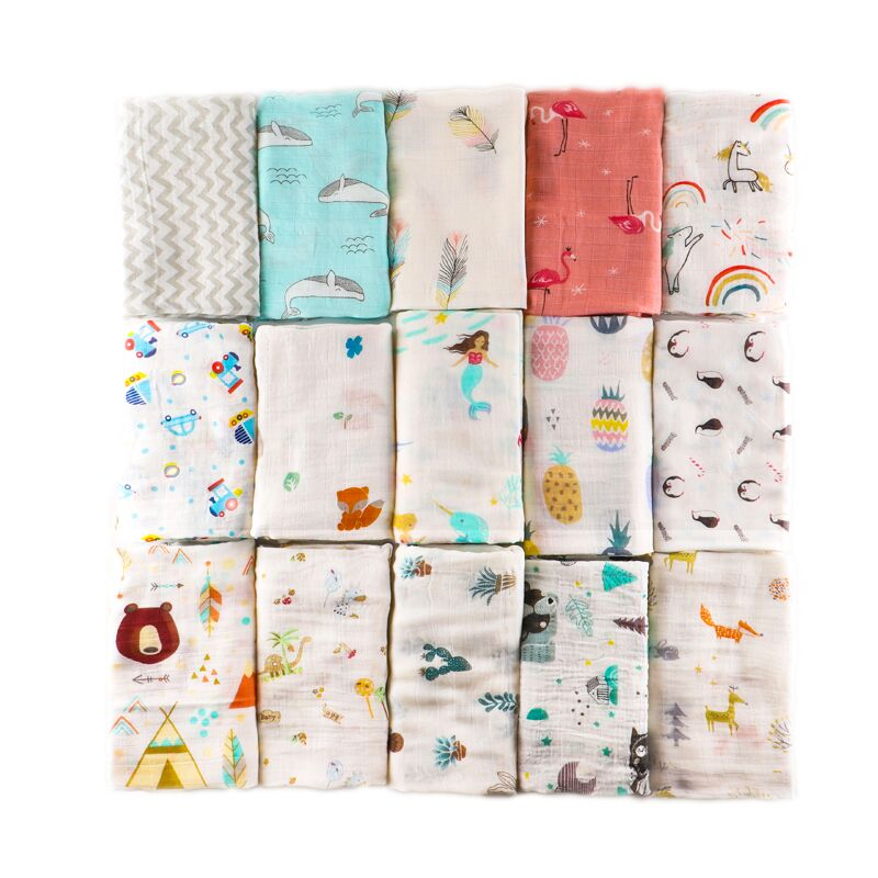 Muslin Baby Blankets Newborn Photography Accessories Soft Play Mat Swaddle Wraps Infant Bamboo Cotton Baby Bedding Bath Towel