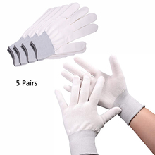 EHDIS 5 Pairs Wrapping Vinyl Work Gloves Window Tint Anti Slip Nylon Finger Protector Hand Mittens Car Sticker Cleaning Tools
